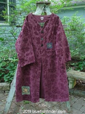 Vintage Blue Fish Clothing 2000 Upholstery Diwmach Coat Grape Leaf Claret Size 1- Bluefishfinder.com
