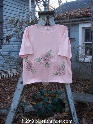 Vintage Blue Fish Clothing Barclay Short Sleeved Square Tee Giant Floral Orchid Size 0- Bluefishfinder.com