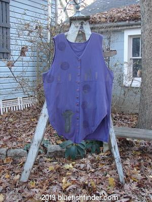 Vintage Blue Fish Clothing 1994 Cricket Vest Veggie Garden Blueberry Size 2- Bluefishfinder.com