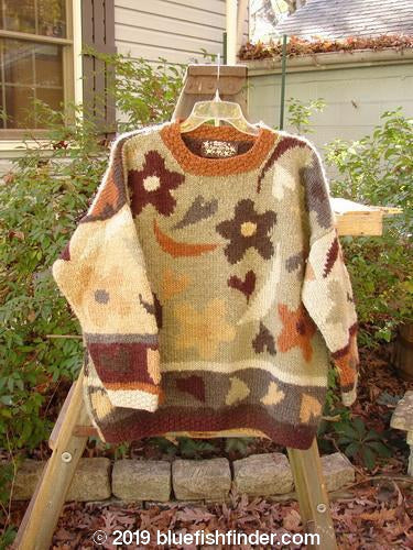 Vintage Blue Fish Clothing Tara Handknits Long Pullover Sweater Hearts OSFA- Bluefishfinder.com