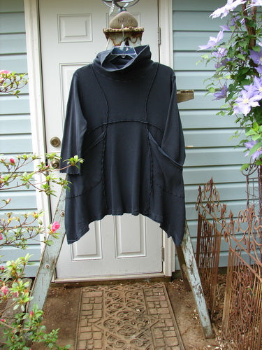 Vintage Blue Fish Clothing Barclay Thermal Cowl Neck Reverse Stitch Pocket Pullover Navy Size 0- Bluefishfinder.com