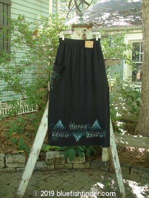 Vintage Blue Fish Clothing 1996 NWT Big Pocket Skirt Aqua Diamond Black Size 1- Bluefishfinder.com