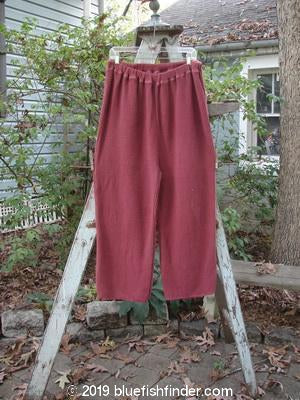Vintage Blue Fish Clothing 1993 Waffle Straight Leg Pant Loganberry Size 2- Bluefishfinder.com