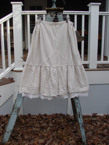 Vintage Blue Fish Clothing Magnolia Pearl Linen Embroidered Sectional Layer Skirt Flaxen OS- Bluefishfinder.com