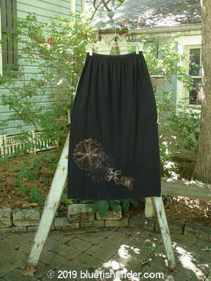 Vintage Blue Fish Clothing Barclay A Line Skirt Giant Floral Black Size 1- Bluefishfinder.com