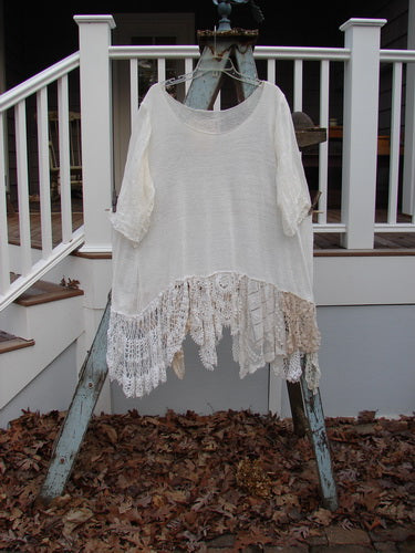 Vintage Blue Fish Clothing Magnolia Pearl Jersey Crochet Lace Bottom Tunic Crème OS- Bluefishfinder.com
