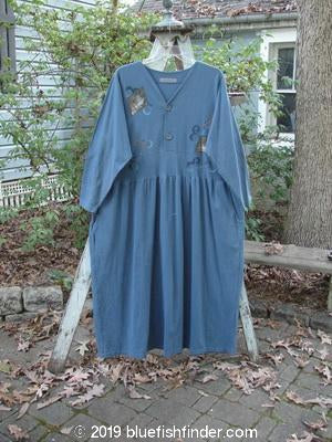 Vintage Blue Fish Clothing 1997 Villa Dress Glass Window Blueprint Size 2- Bluefishfinder.com