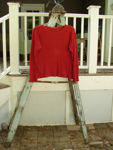 Vintage Blue Fish Clothing 1999 Long Sleeved Pointelle Undertop Red Brick Size 2- Bluefishfinder.com