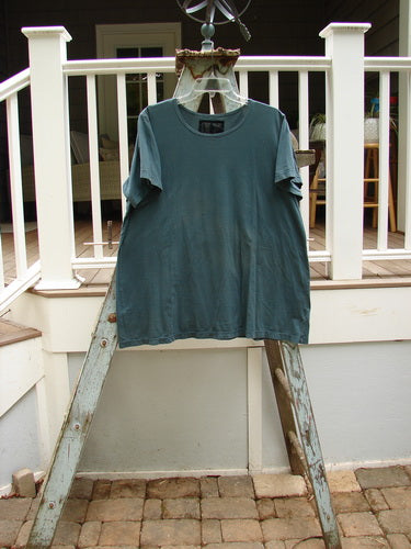Vintage Blue Fish Clothing Barclay Lightweight Short Sleeved Tee Dusty Teal Size 2- Bluefishfinder.com