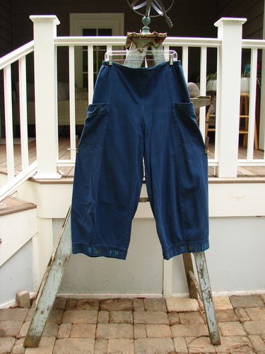 Vintage Blue Fish Clothing Barclay Lightweight Denim Cargo Pant Tiny Square Blue Jean Size 1- Bluefishfinder.com