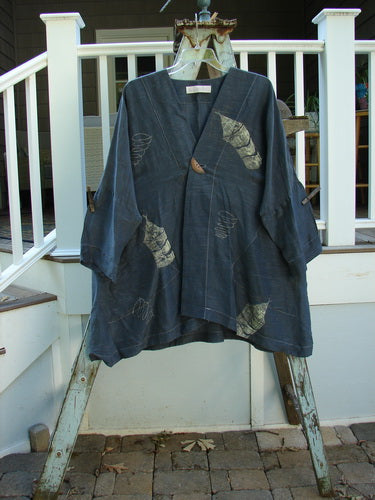 Vintage Blue Fish Clothing 1998 Silk Kimono Jacket Wind Domino Size 1- Bluefishfinder.com