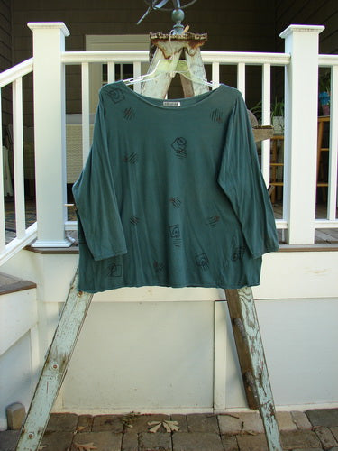 Vintage Blue Fish Clothing Barclay Batiste Long Sleeve Top Geo Hunter Size 2- Bluefishfinder.com
