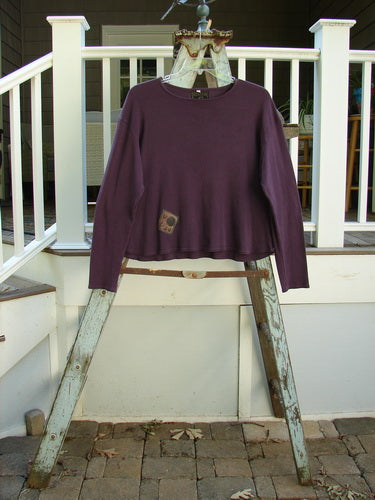 Vintage Blue Fish Clothing Barclay Patched Rib Round Bottom Top Lucky Horse Shoe Purple Dusk Size 2- Bluefishfinder.com