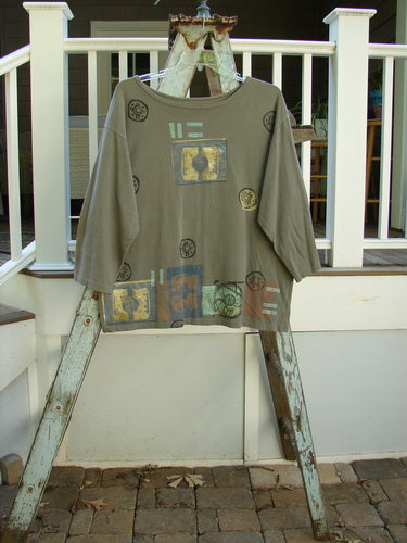 Vintage Blue Fish Clothing 1991 Long Sleeved Boat Neck Tunic Gadgets Grey Stone OSFA- Bluefishfinder.com