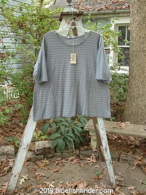 Vintage Blue Fish Clothing Barclay NWT Stripe Short Sleeved Curl Top Graycious OSFA- Bluefishfinder.com