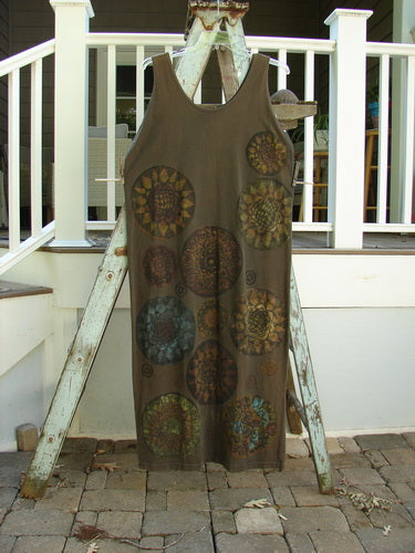 Vintage Blue Fish Clothing 1992 Holiday Sleeveless Column Dress Giant Metallics Grey Sand OSFA- Bluefishfinder.com