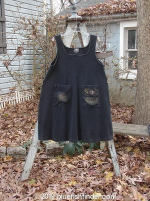 Vintage Blue Fish Clothing 1999 Square Rib Pinafore Star Black Size 1- Bluefishfinder.com