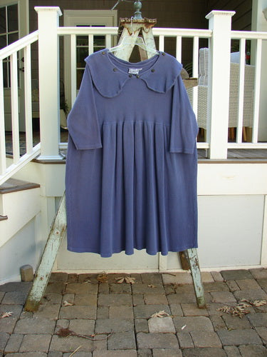 Vintage Blue Fish Clothing 1992 Thermal Silly Collar Dress Periwinkle Size 1- Bluefishfinder.com
