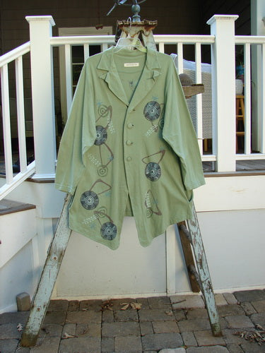 Vintage Blue Fish Clothing 1996 Boulevard Jacket Giant Pinwheel Spanish Moss Size 0- Bluefishfinder.com