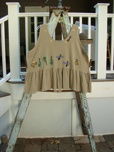 Vintage Blue Fish Clothing 1992 Peplum Top Music Festival Wheat OSFA- Bluefishfinder.com