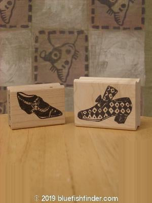 Vintage Blue Fish Clothing 1997 Unused Rubber Stamps Uptown Gal Theme OS- Bluefishfinder.com
