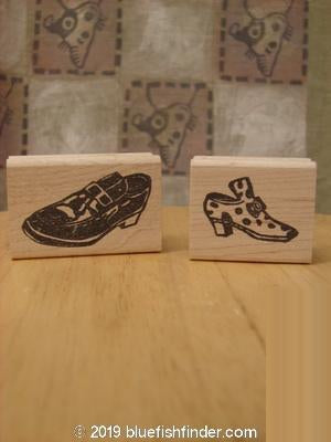 Vintage Blue Fish Clothing 1997 Unused Rubber Stamps His and Her Theme OS- Bluefishfinder.com
