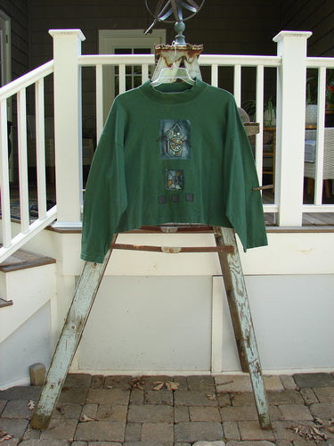 Vintage Blue Fish Clothing 1997 Structure Top Flying Bird House Verdigris OSFA- Bluefishfinder.com