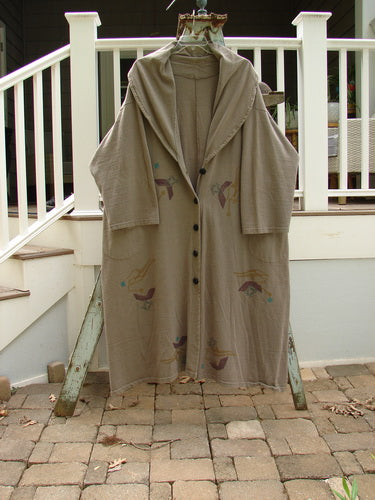 Vintage Blue Fish Clothing 1994 Carriage Coat Ric Rack Raku OSFA- Bluefishfinder.com