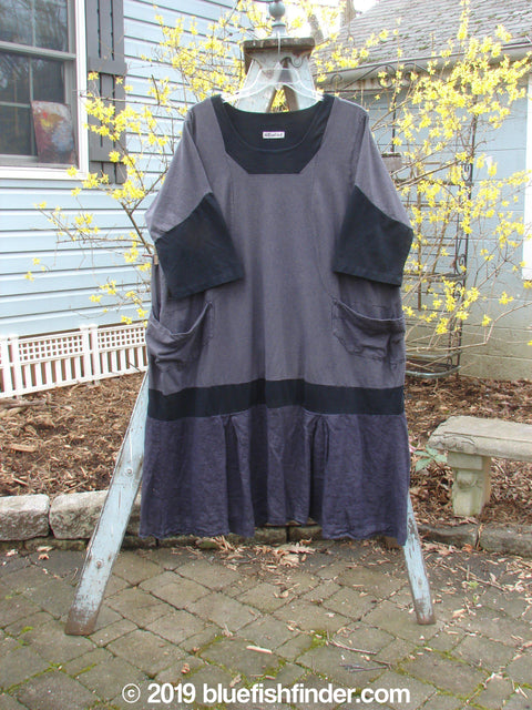 Vintage Blue Fish Clothing Barclay Contrast Drop Pocket Dress Heather Size 2- Bluefishfinder.com