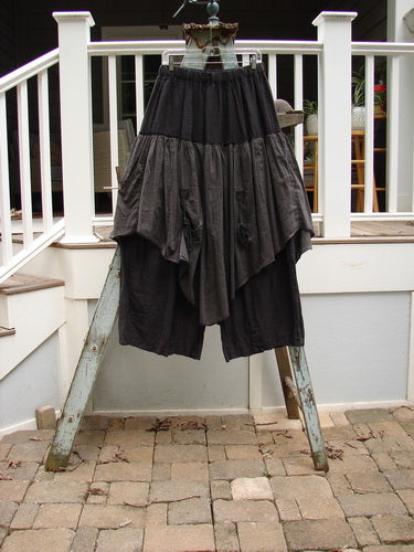 Vintage Blue Fish Clothing Barclay Linen Silk Pant Skirt Midnight Size 2- Bluefishfinder.com
