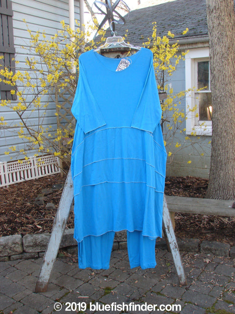 Vintage Blue Fish Clothing Barclay NWT 3 Tier Pullover Lower Bell Pant Duo Turquoise Size 1- Bluefishfinder.com