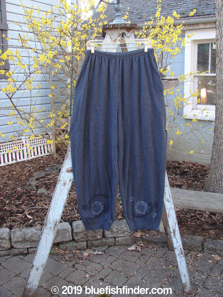 Vintage Blue Fish Clothing 1997 Cashmere Pant Celtic Moon Marled Granite Size 2- Bluefishfinder.com