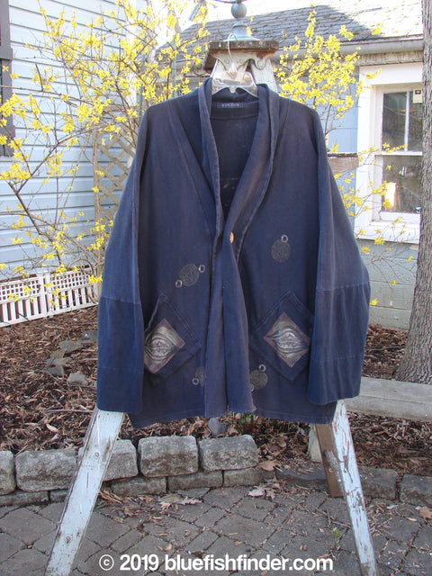 Vintage Blue Fish Clothing 1995 Deco Jacket Leaf Black OSFA- Bluefishfinder.com
