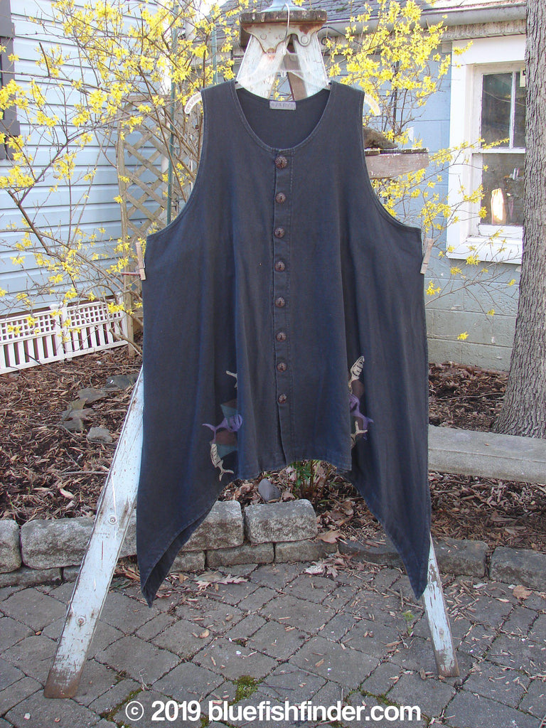 Vintage Blue Fish Clothing 1997 Moonshell Vest Fish Ebony OSFA- Bluefishfinder.com