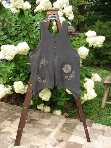 Vintage Blue Fish Clothing 1998 Botanicals Aster Vest Digitalis Raven Size 2- Bluefishfinder.com