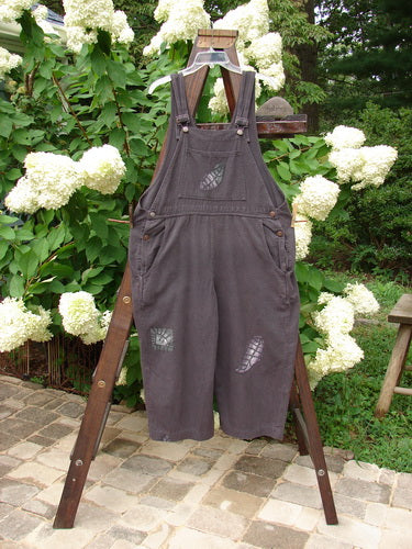 Vintage Blue Fish Clothing 1995 Denim Treehouse Overall Garden Leaf Madderlake Size 1- Bluefishfinder.com