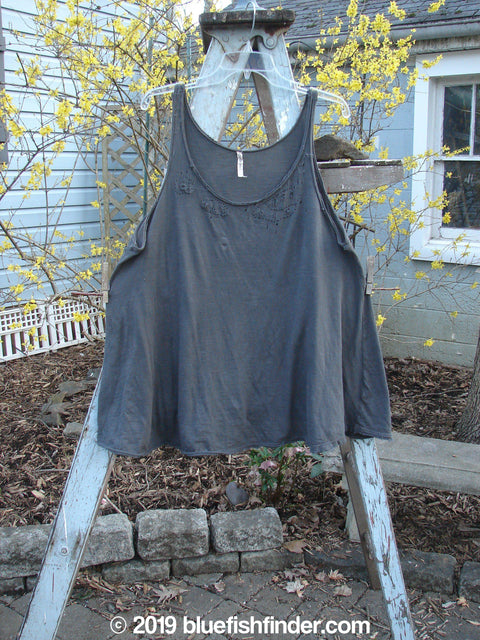 Vintage Blue Fish Clothing Magnolia Pearl Jersey Deconstructed Tank Off Black OS- Bluefishfinder.com