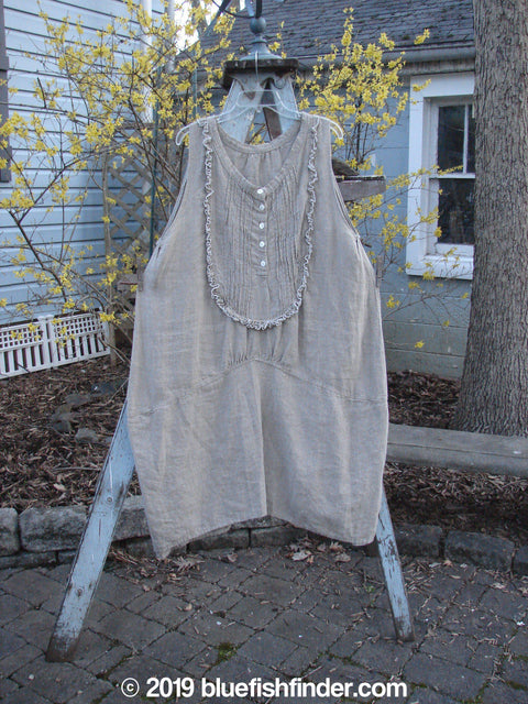 Vintage Blue Fish Clothing Magnolia Pearl Linen Placket Tunic Flax OS- Bluefishfinder.com