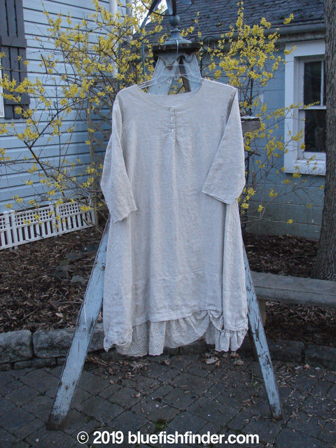 Vintage Blue Fish Clothing Magnolia Pearl Linen Eyelet Dress Flax OS- Bluefishfinder.com