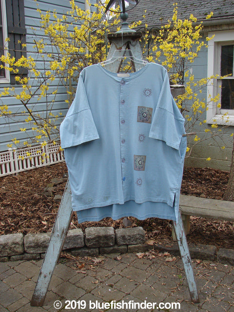 Vintage Blue Fish Clothing 1997 Elements Island Beach Jacket Sealife Rain OSFA- Bluefishfinder.com