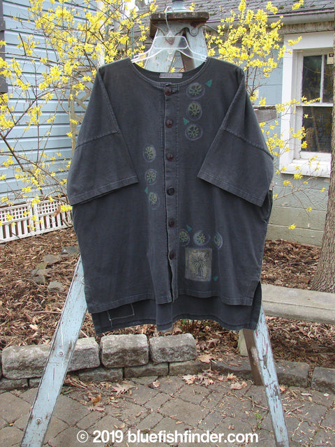 Vintage Blue Fish Clothing 1997 Elements Island Beach Jacket Sealife Ebony OSFA- Bluefishfinder.com