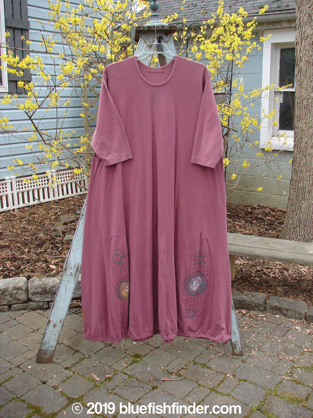 Vintage Blue Fish Clothing 1998 Mystic Dress Abstract Claret Size 2- Bluefishfinder.com