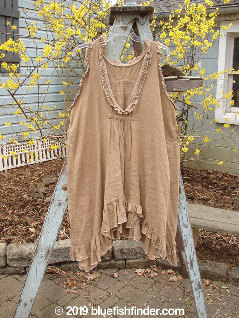 Vintage Blue Fish Clothing Magnolia Pearl Linen V Neck Tab Tunic Wood OS- Bluefishfinder.com