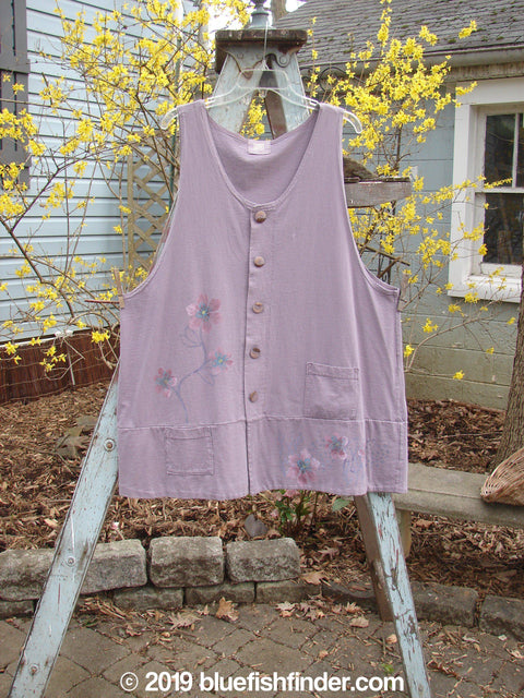 Vintage Blue Fish Clothing 2000 Up and Down Vest Floral Pale Purple Size 2- Bluefishfinder.com