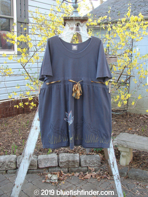 Vintage Blue Fish Clothing 1999 Ribbon Dress Five Petal Raven Size 0- Bluefishfinder.com
