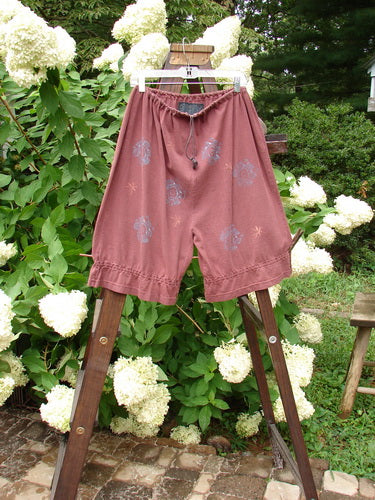 Vintage Blue Fish Clothing 1992 Knicker Star Fower Wineberry OSFA- Bluefishfinder.com