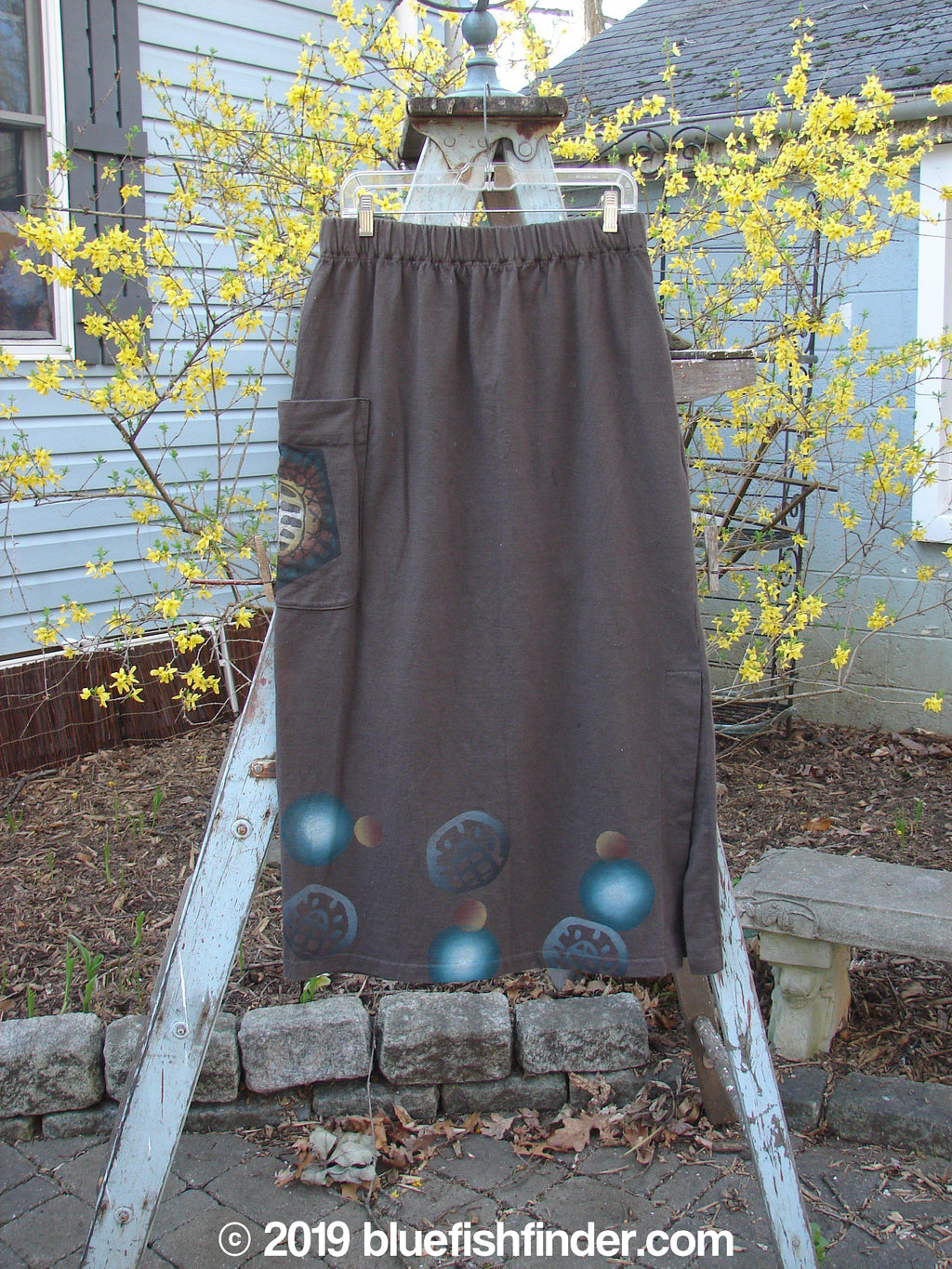 Vintage Blue Fish Clothing 1996 Big Pocket Skirt Moon Molasses Size 1- Bluefishfinder.com