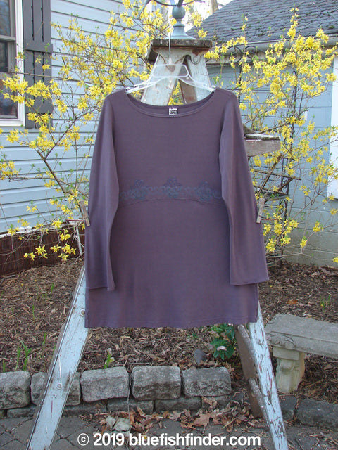 Vintage Blue Fish Clothing 2000 Rayon Lycra Seekers Tunic Aubergine Size 1- Bluefishfinder.com