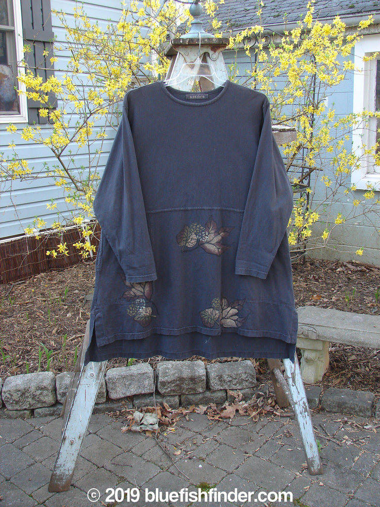 Vintage Blue Fish Clothing 1998 Woodbridge Top Black Olive Pine Cone Size 1- Bluefishfinder.com