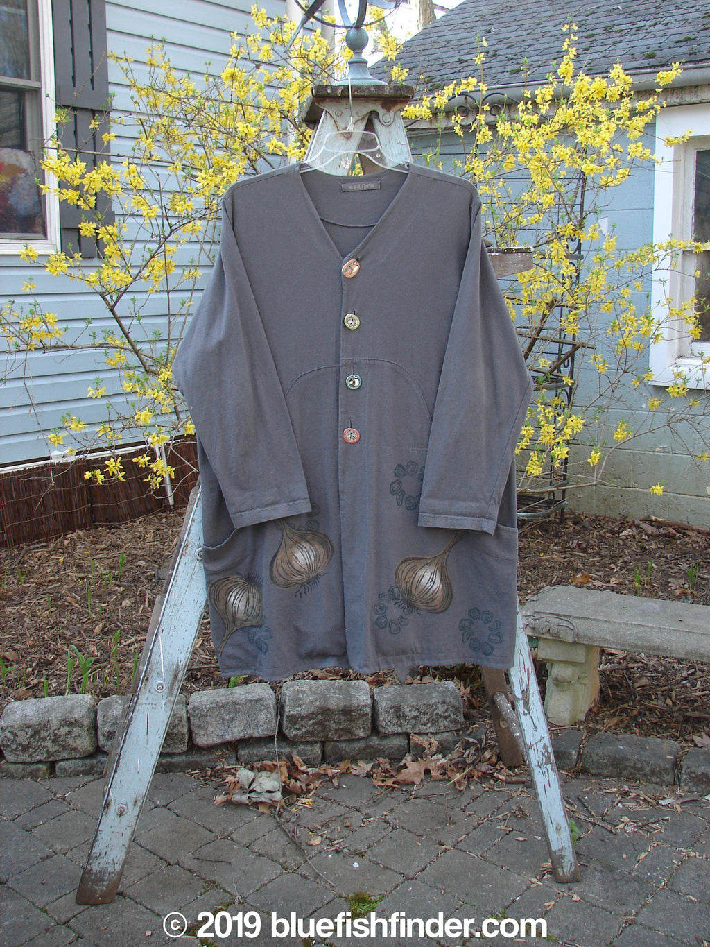 Vintage Blue Fish Clothing 1998 Harvest Jacket Black Olive Onion Size 1- Bluefishfinder.com